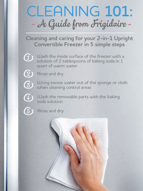 Cleaning from Frigidaire 101