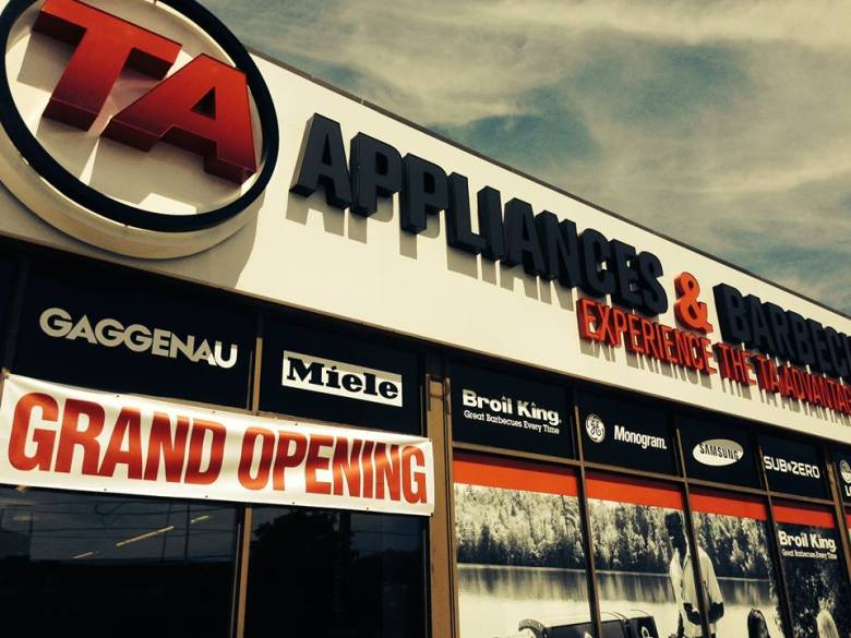 TA Appliance Mississauga Store. Picture via Facebook User Dave Weber