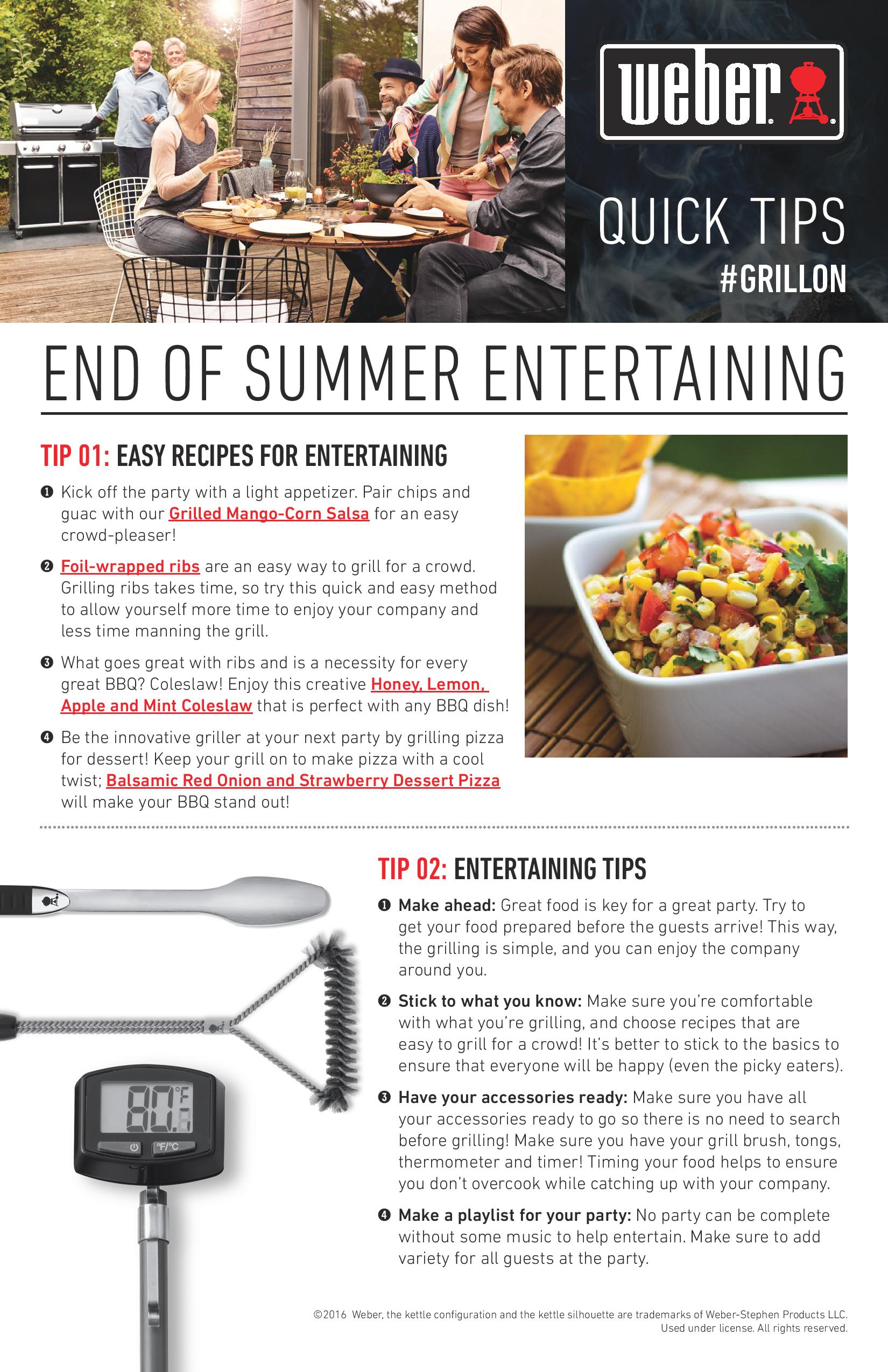 Quick Tips For End Of Summer Entertaining Ta Appliance Blog